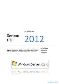 Tutoriel Serveur FTP (Windows server 2008 R2) 1