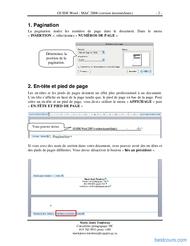 Tutoriel GUIDE Word : MAC 2008 intermédiaire 2
