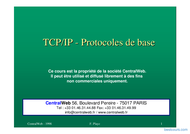 Tutoriel TCP/IP - Protocoles de base 1