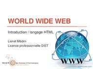 Tutoriel World Wide Web 1