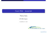 Tutoriel Cours Web - Javascript 1
