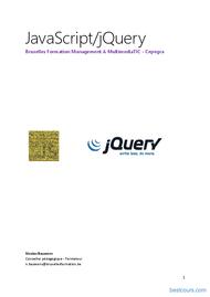 Tutoriel JavaScript et jQuery 1
