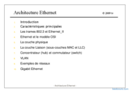 Tutoriel Architecture Ethernet 1