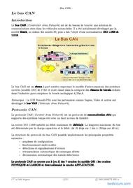 Tutoriel Le busCAN (Controller Area Network) 2