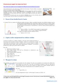 Tutoriel 30 astuces pour gagner du temps avec Excel 1