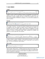 Tutoriel Guide Word 2013 (version intermédiaire)  2