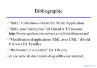 Tutoriel XML: eXtendedMarkupLanguage 2