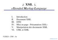 Tutoriel XML: eXtendedMarkupLanguage 1