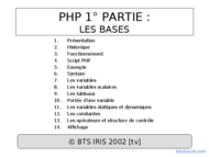 Tutoriel PHP : Les bases 1
