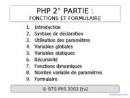 Tutoriel PHP : Fonctions et Formulaire 1