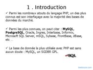 Tutoriel PHP : Base de données 2