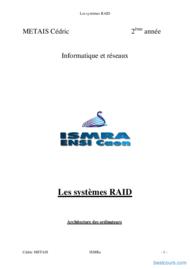 Tutoriel Les systèmes RAID 1