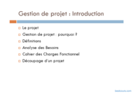 Tutoriel Gestion de projet : Introduction 2