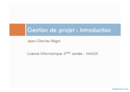 Tutoriel Gestion de projet : Introduction 1