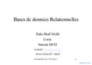 Tutoriel Bases de données Relationnelles  1
