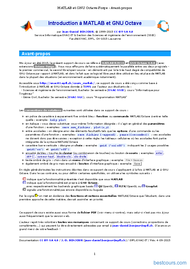 Tutoriel Introduction à MATLAB et GNU Octave 2