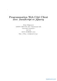Tutoriel Programmation Web Côté Client avec JavaScript et jQuery 1