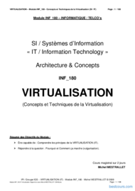 Tutoriel Concepts et Techniques de la Virtualisation 1
