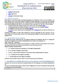 Tutoriel Installation et configuration d'un serveur web - TP 2
