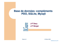 Tutoriel Base de données : PDO, SQLite, Mysqli 1