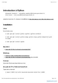 Tutoriel Python: Introduction 1