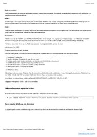 Tutoriel Python: Bases de données (Sqlite) 2