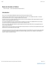 Tutoriel Python: Bases de données (Sqlite) 1
