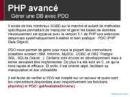 Tutoriel PHP avancé: Gérer une DB avec PDO 2