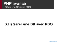 Tutoriel PHP avancé: Gérer une DB avec PDO 1