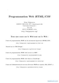 Tutoriel Programmation Web HTML/CSS 1