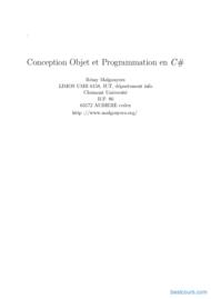 Tutoriel Conception Objet et Programmation en C# 1