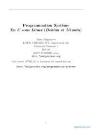 Tutoriel Programmation Système En C sous Linux 1