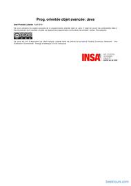 Tutoriel Prog. orientée objet avancée: Java 1