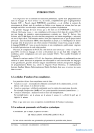 Tutoriel Langages - Grammaires et Automates 2