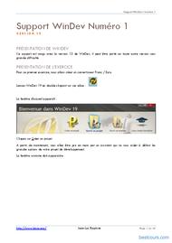 Tutoriel WinDev: Présentation et premier développement guidé 2