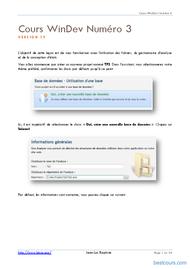 Tutoriel WinDev: Travailler avec un fichier de données 2