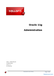 Tutoriel Oracle 11g Administration 1