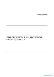 Tutoriel Introduction à la recherche opérationnelle 1