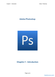 Tutoriel Introduction Adobe Photoshop 1