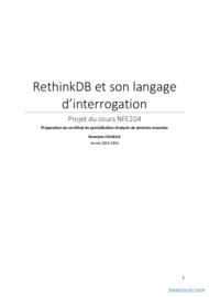 Tutoriel RethinkDB et son langage d'interrogation 1