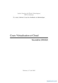 Tutoriel Cours Virtualisation et Cloud 1