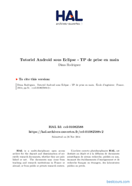 Tutoriel Tutoriel Android sous Eclipse 1