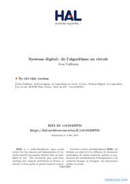 Tutoriel Système digital de l'algorithme au circuit 1