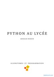 Tutoriel Python au lycée 1