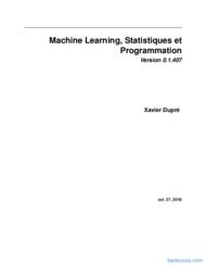 Tutoriel Machine Learning, Statistiques et Programmation 1