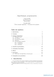 Tutoriel Algorithmique & programmation 1