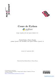Tutoriel Cours de Python 1