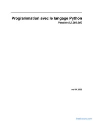 Tutoriel Programmation avec le langage Python 1