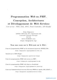 Tutoriel Programmation Web en PHP 1