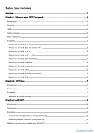 Tutoriel Apprenez .NET Framework 2